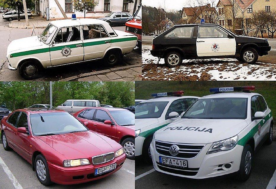 Policijos Automobilių De Imtukas Nuo žiguliuko Iki Audi