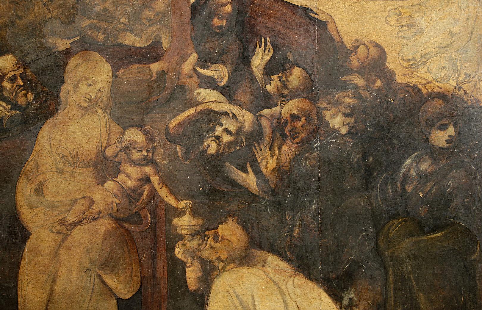 Картинка леонардо да винчи поклонение волхвов
