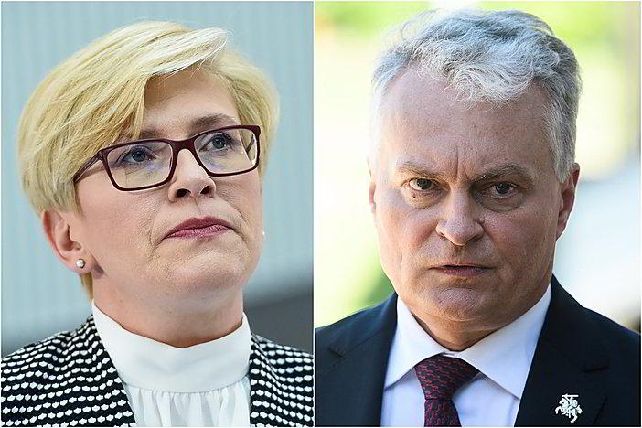 Gyvai: G. Nausėda ir I. Šimonytė po susitikimo su partijų lyderiais