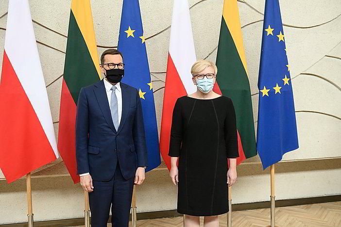 Gyvai: I. Šimonytės komentarai po susitikimo su Lenkijos premjeru