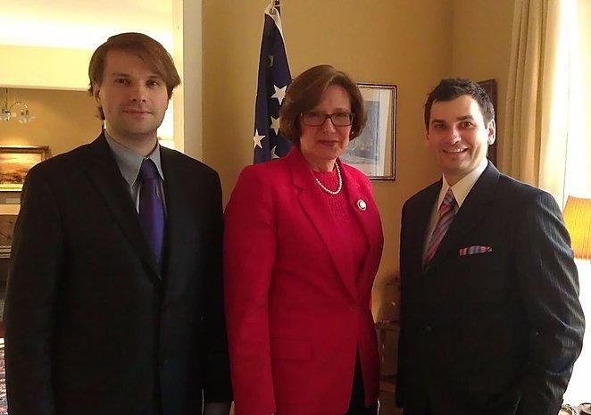 E.Minkštimas ir R.Beresniovas susitiko su JAV ambasadore Lietuvoje Anne E. Derse.